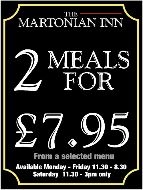 2 Meals for £7.95