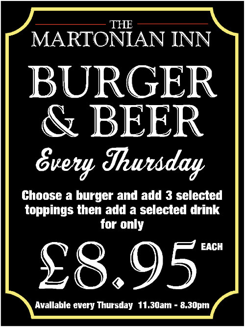 Burger and Beer - Every Thursday