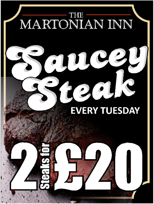 Saucy Steak Every Tuesday